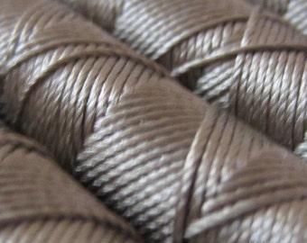 SILKA natural silk embroidery thread, spool of 32 ft (10m), GBEIGE 698