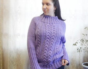Cable Knit Sweater,   Handmade Sweater, Knitted Jumper, Pullover Sweater, Cable Knit Jumper, Off Shoulder Sweater,Cable Sweater
