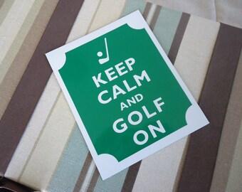 Keep calm golf on magnet