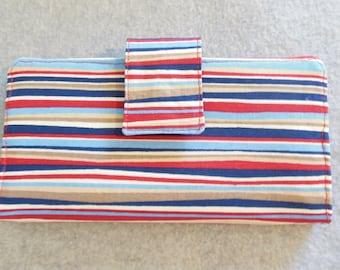 Fabric Wallet - Curvy Stripes