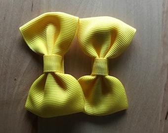 Gold Baby Tuxedo Bow, Baby Bow, 2.5 Inch Hair Bow, Tuxedo Bow, Toddler Bow, Toddler Hair Clip, Baby Gift, Baby Hair Clip, Baby Bow, Baby Bow