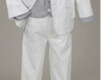 Couture Baby boy baptism outfit set Greek baptism suits white christening suit Optional assorted shoes