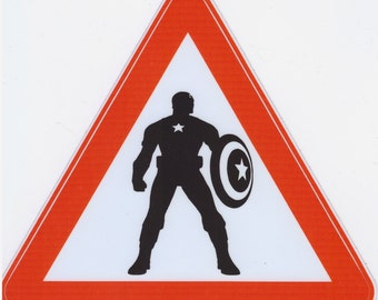 Captain America sticker. Captain America laptop sticker. Captain America. Laptop vinyl decal. Marvel comics sticker. Superhero sticker