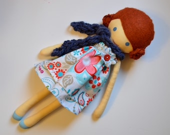 Cloth Doll - Auburn Haired Girl