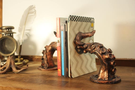 Tentacle bookend steampunk (pair)
