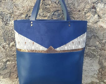 Greta ethnic blue Tote