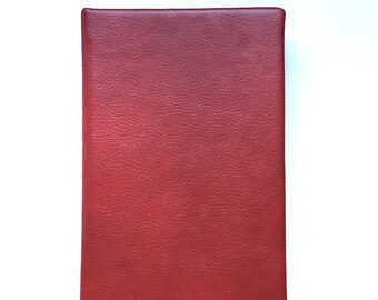 Red Faux Leather Journal