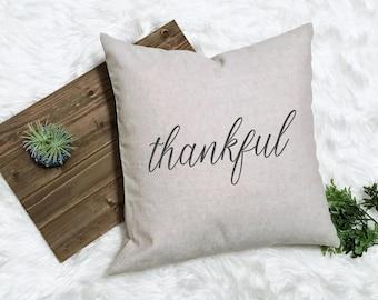 Fall Farmhouse Decor - Fall Fixer Upper Style - Rustic Thankful - Rustic Fall Decorations - Farmhouse Pillow - Rustic Decor - Fall Pillow