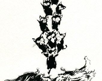 "Polar Ice Cat 5"" x 7"" Print"