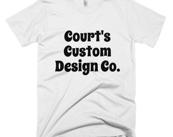 Custom Design For Court's Custom Design Co. / American Apparel Brand Short-Sleeve T-Shirt / The Peaceful Hippie