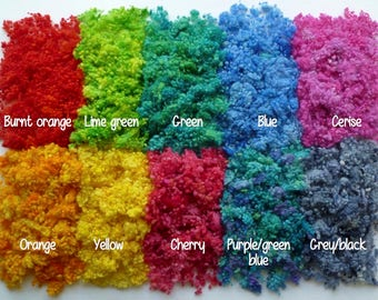 Hand-dyed wool nepps choose any color