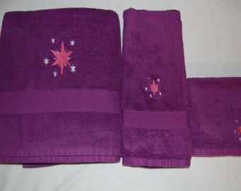 Twilight Sparkle Embroidered Towel Set