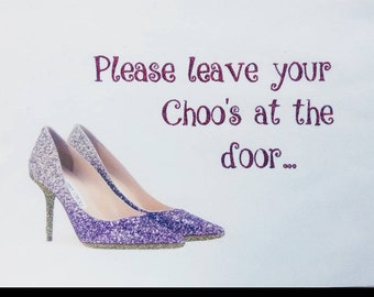 Pink glitter shoe quote