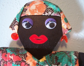 Handmade African Princess & German Milkmaid  Kitchen Dolls  -   Discounts available for several
