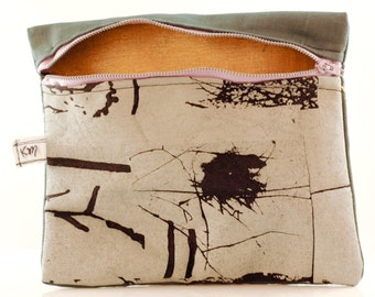 One of a Kind Custom Screenprinted Pouch. Practical Art!