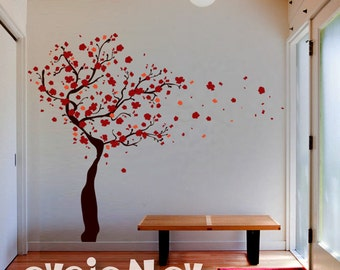 Wall Decals Tree - Tree Wall Decal with Blossoms - Wall Stickers - TRBLS020R
