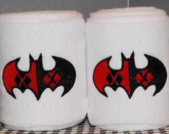 Harley Quinn Logo Embroidered Polo Wraps - Batman Joker Suicide Squad