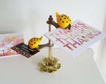 Allied Brass Yellow Ladybug Note Holder