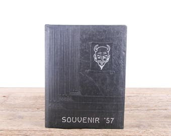 Vintage 1957 Year Book / Jackson Georgia High School Yearbook / Classic 1950's Year Book / Southern 1950's Americana / Student Photos