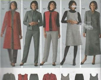 Butterick 4789 Misses'/ Women's Pants, Vest And Jacket And Jumper  Size (20W-28W)  UNCUT
