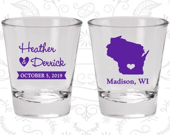 Wisconsin Shot Glass, Wisconsin Shot Glasses, Wisconsin Glass, Wisconsin Glasses, Wisconsin Glassware (148)