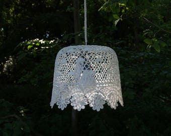 Crochet pendant Light