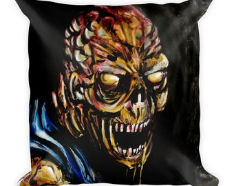Zombie brain eater Square Pillow