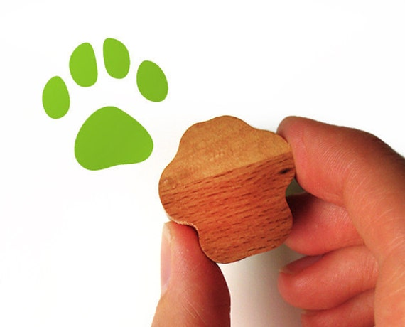 Cat Paw Rubber Stamp, Cat Lover Gift for Card Making, Scrapbooking