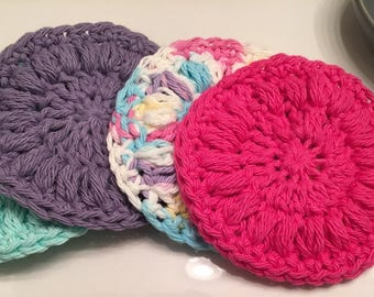Beauty gift - Cotton rounds - Facial cleanser - Cotton facial pads - Reusable rounds - Facial rounds  - Cosmetic rounds - Spa day gift