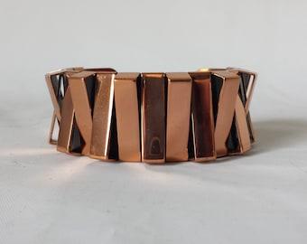 Vintage Renoir Mid Century Modernist Copper Cuff Bracelet