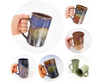 Stoneware Tankard or Beer Stein  / Mug for men | Stoneware Tankard | Large Mug | Pottery Beer Stein / MADE TO ORDER (6 weeks)