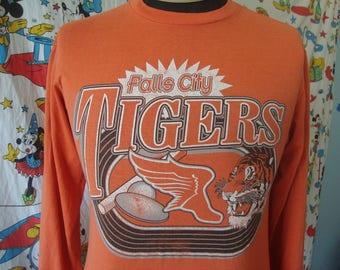 Vintage 80's Falls City Tigers Long Sleeve punk rock 1980's T shirt Sz M