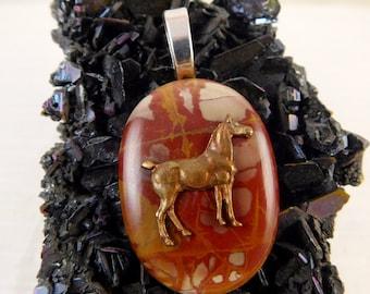 Noreena Jasper With Copper Horse Pendant