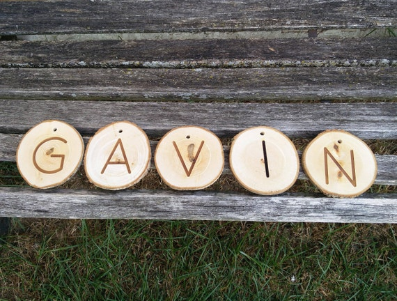 Personalized Name Sign. Wood Round, Live Edge. Christmas, Birthday, Home Decor, Office, Fort, Kid's Room, Children Gift