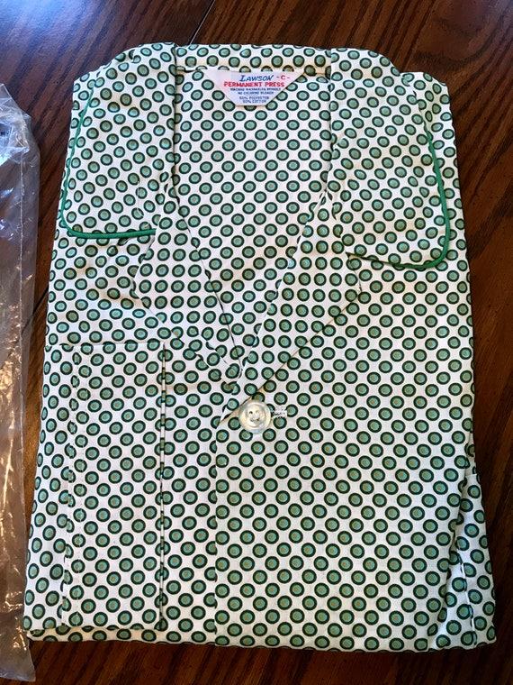 Vintage Men's Lawson Print Pajamas Size C, 15 1/2 to 16 1/2 Shirt Size, 40 - 44