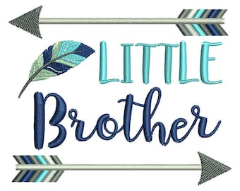 Little Brother Arrow Embroidery Design- Instant Download
