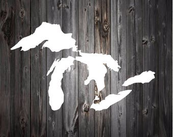 Great Lakes Decal | Great Lakes Sticker | Great Lakes Car Decal | Great Lakes Car Sticker | Michigan Great Lakes  | Michigan Vinyl Decal