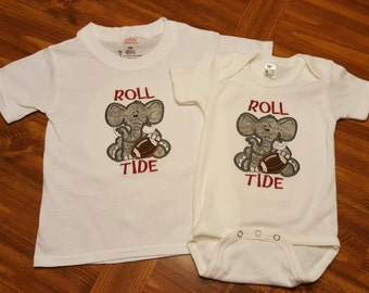 Alabama Baby bodysuit - Roll Tide Baby - Elephant Baby - Boy