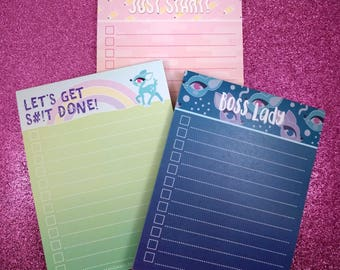 3 Cute To-Do List Pads! (Pick one, or all 3!)
