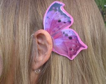 Pink Butterfly Ear Wings