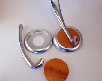Wall hook, coat hanger, metal and wood, vintage clothing hook, coat hook, wall hanger D 005