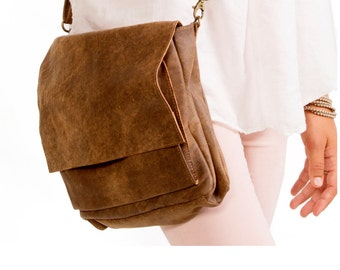 Sale!!! Distressed Brown leather crossbody bag / crossbody leather bag/ leather shoulder bag