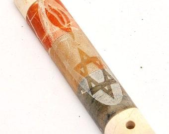 Jerusalem Four Colors Marble Stones Mezuzah Engraving With Magen David