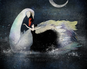 Swan Lake - Deluxe Edition Print - Whimsical Art