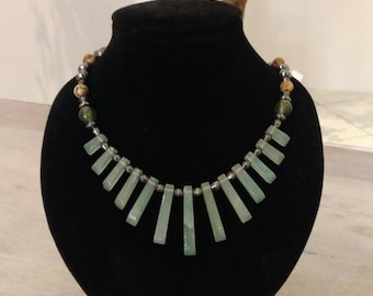 Cascade necklace jade