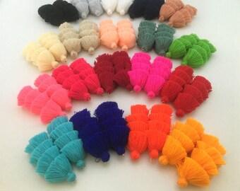 Handmade Jewelry Tassels, Customized Colors, Assorted Tassel Colors, Jewelry Making Tassels, Earrings, Necklace Layered Tassels,Custom Sizes