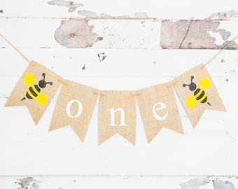 Bumble Bee Decorations, Bumble Bee 1st Birthday Party, Summer 1st Birthday Sign, B575
