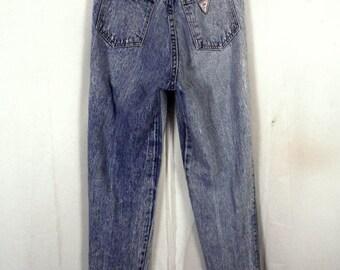 vtg 80s Palmettos WORN soft Acid Wash High Waist Denim Jeans skinny SZ 5 25 X 29
