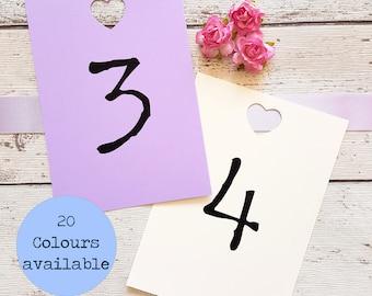 Table Numbers, Table Number Cards, Table Number Signs, Seating Plan Cards, Table Cards, Wedding Signs, Rustic Wedding Decor, Pastel Wedding.