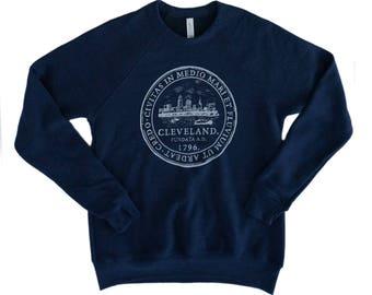 Unisexe Cleveland «Sceau de la ville» polaire marine Crew Sweatshirt
